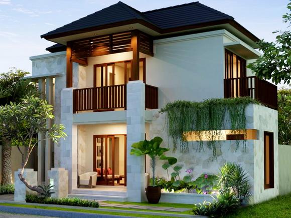 rumah dengan dua lantai