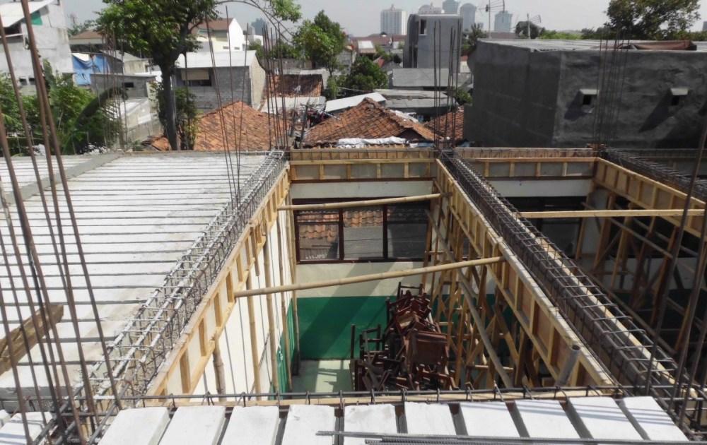 cara menghitung material dak beton
