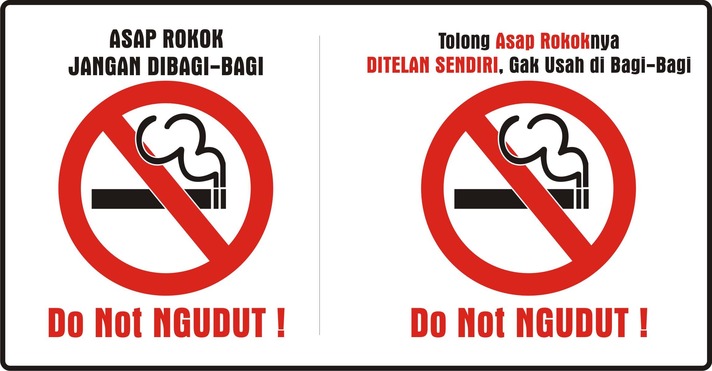 Stiker Tanda Dilarang Merokok