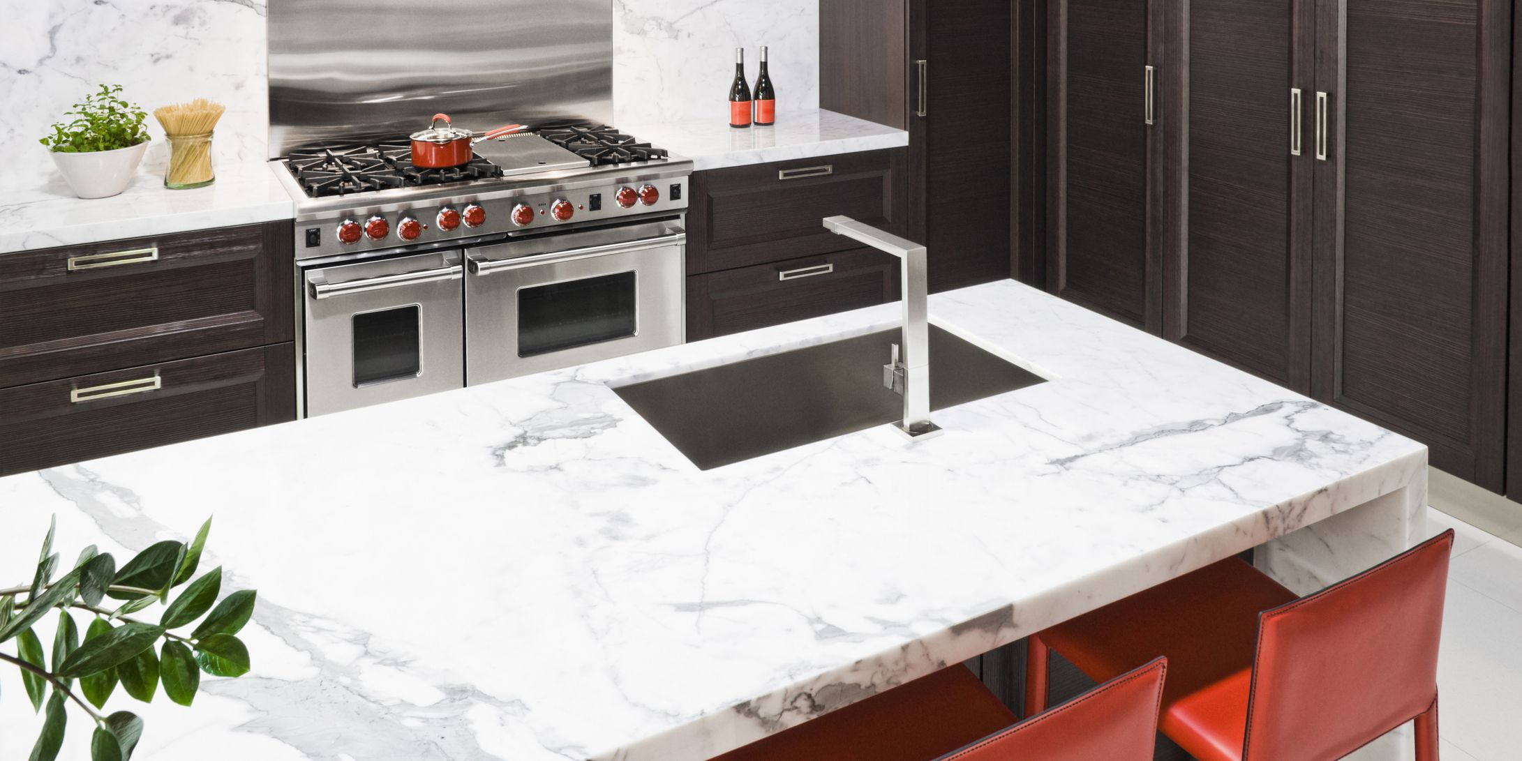 Percantik Dapur dengan Sentuhan Marmer