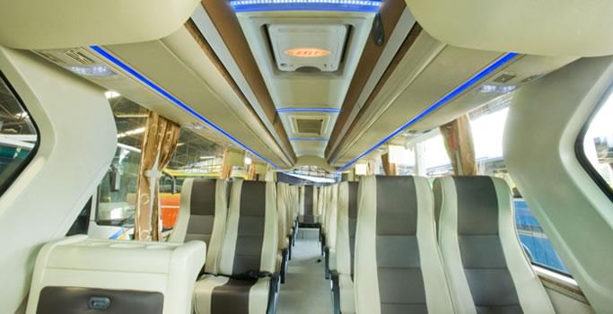 Interior Big Bus Pariwisata