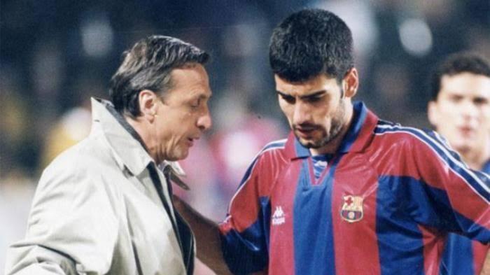 Johan saat bersama Pep Guardiola